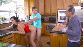 Busty Mom Cheats Her Old Husband